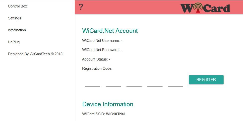 wicard registration